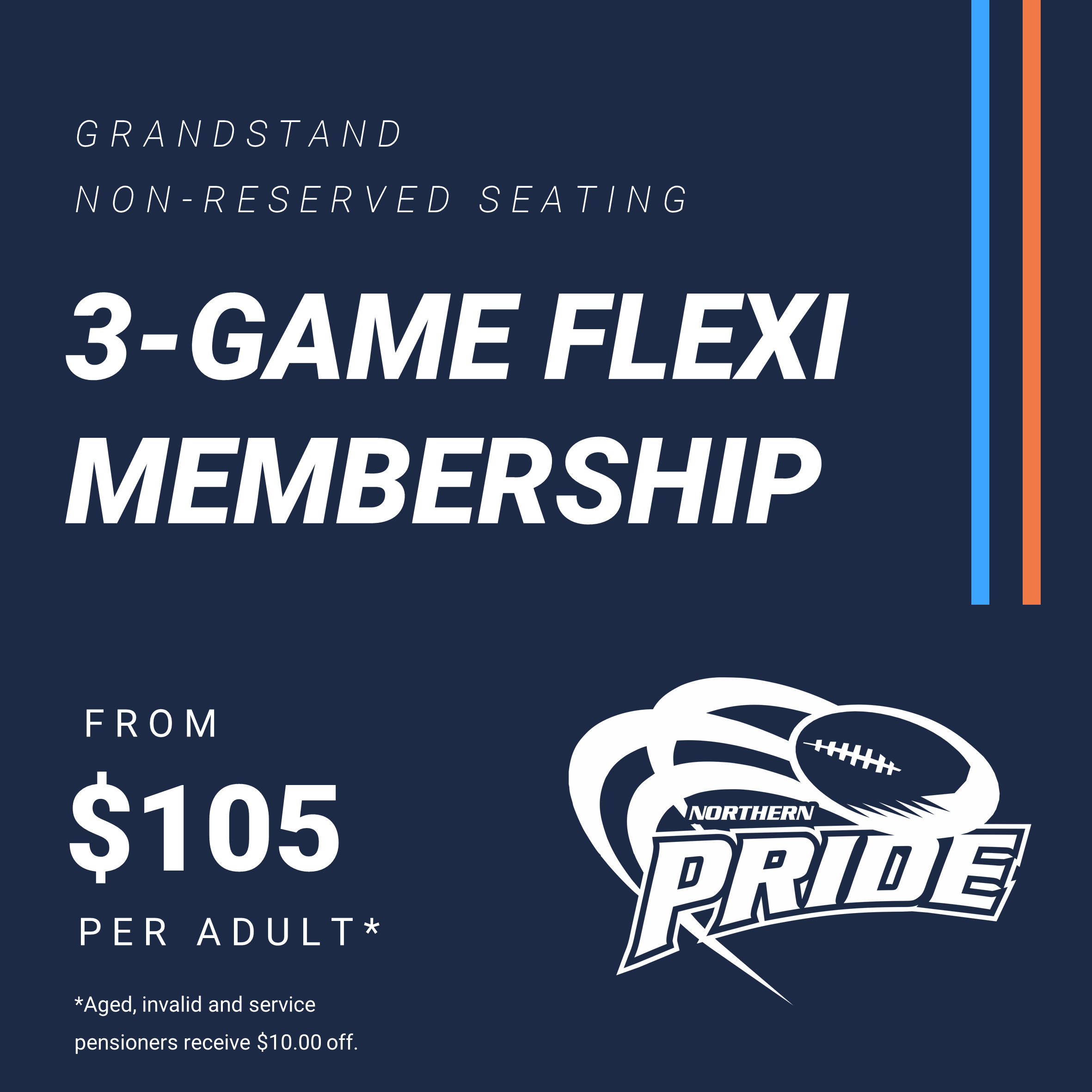Adult 3-Game Flexi Membership – Ages 16+